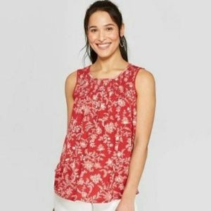Women's Printed Sleeveless Scoop Neck Knit Tank To